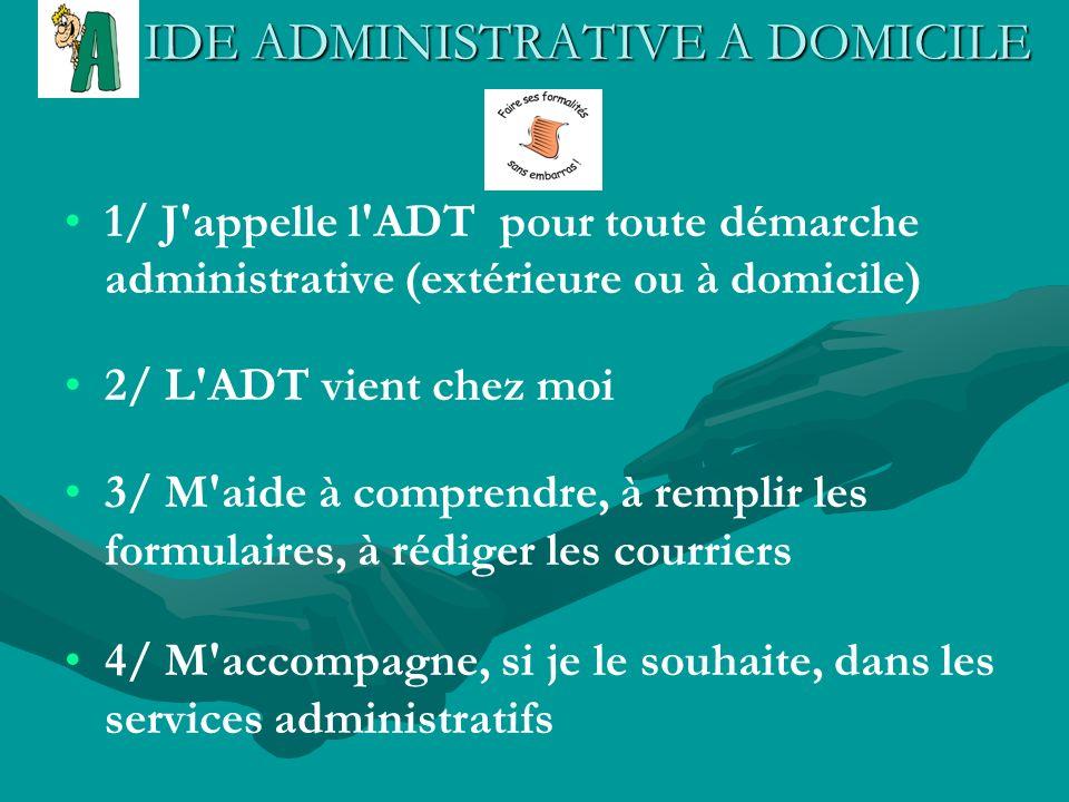 IDE ADMINISTRATIVE A DOMICILE