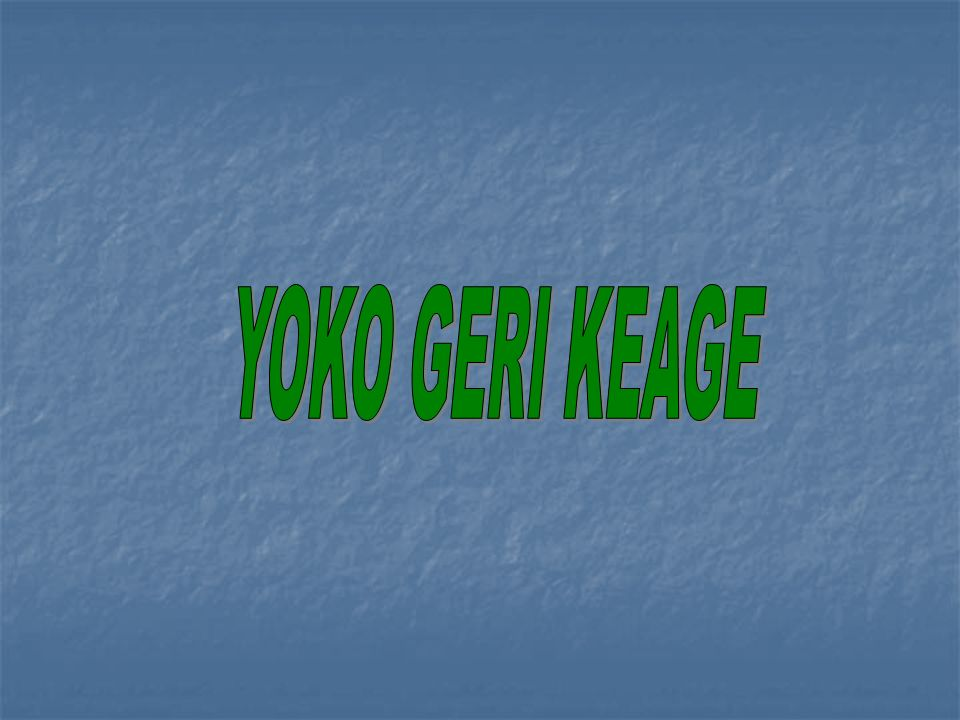 YOKO GERI KEAGE