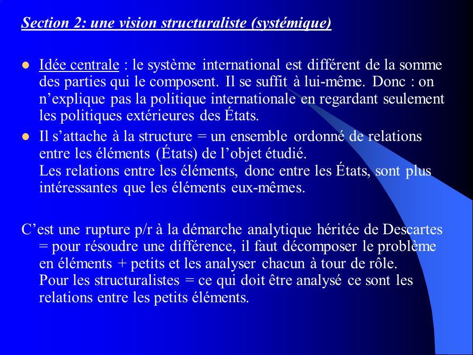 Section 2: une vision structuraliste (systémique)