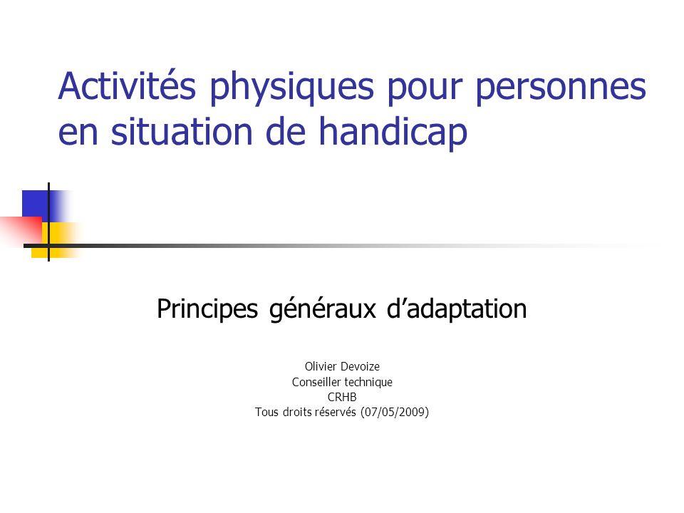 Activités physiques pour personnes en situation de handicap