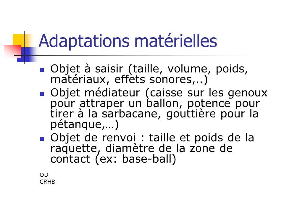 Adaptations matérielles