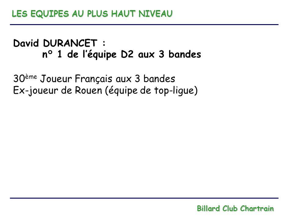 n° 1 de l'équipe D2 aux 3 bandes 30ème Joueur Français aux 3 bandes
