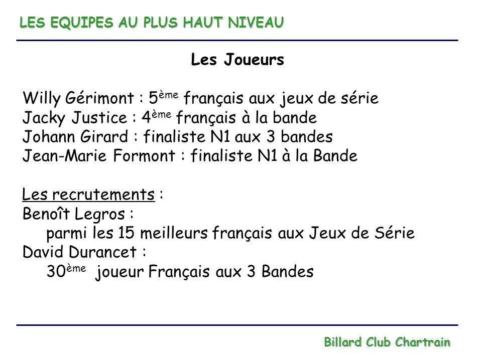 Willy Gérimont : 5ème français aux jeux de série
