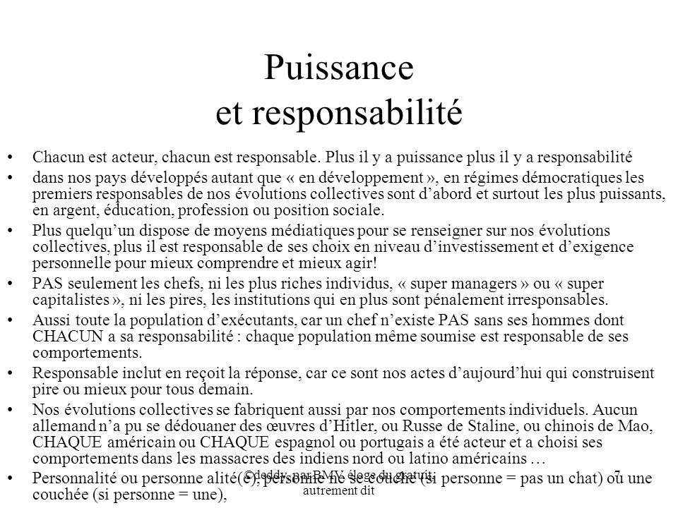 Puissance et responsabilité