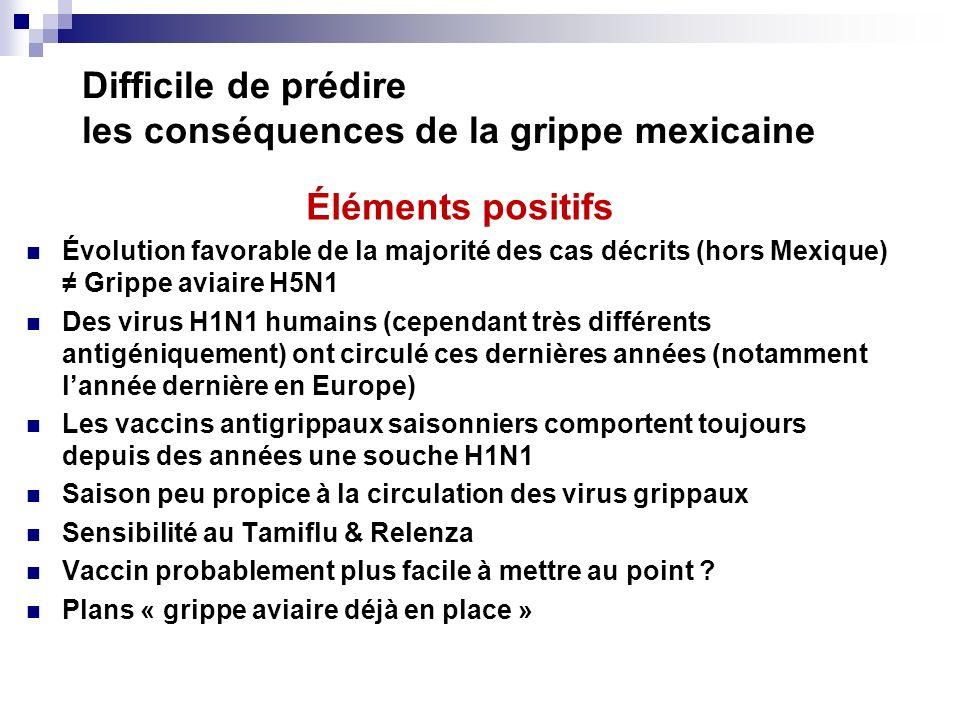 Difficile de prédire les conséquences de la grippe mexicaine
