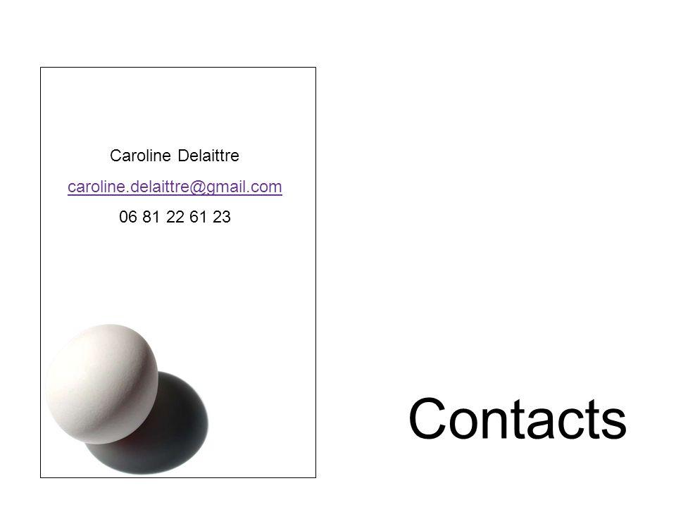 Contacts Caroline Delaittre caroline.delaittre@gmail.com