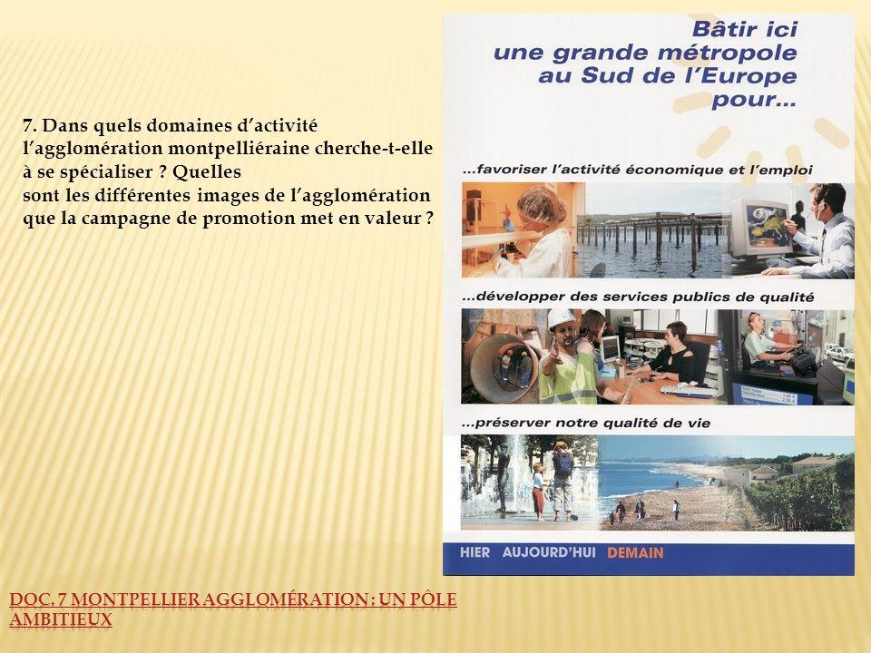 Doc. 7 Montpellier Agglomération : un pôle ambitieux