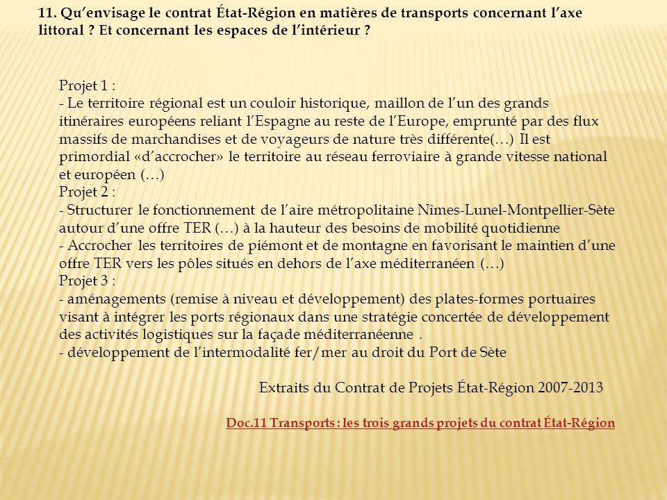 Extraits du Contrat de Projets État-Région 2007-2013