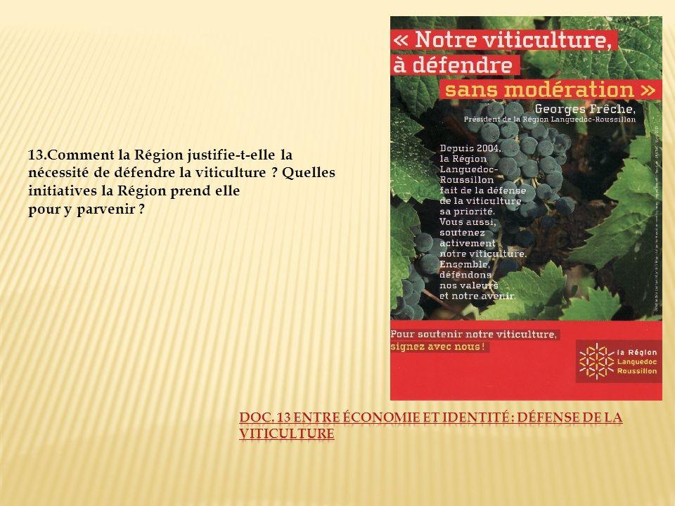 Doc. 13 Entre économie et identité : défense de la viticulture