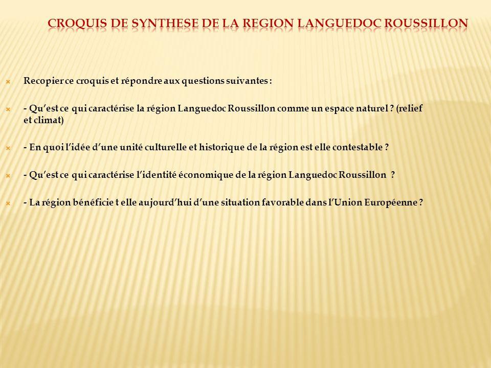 Croquis de synthese de la region languedoc roussillon
