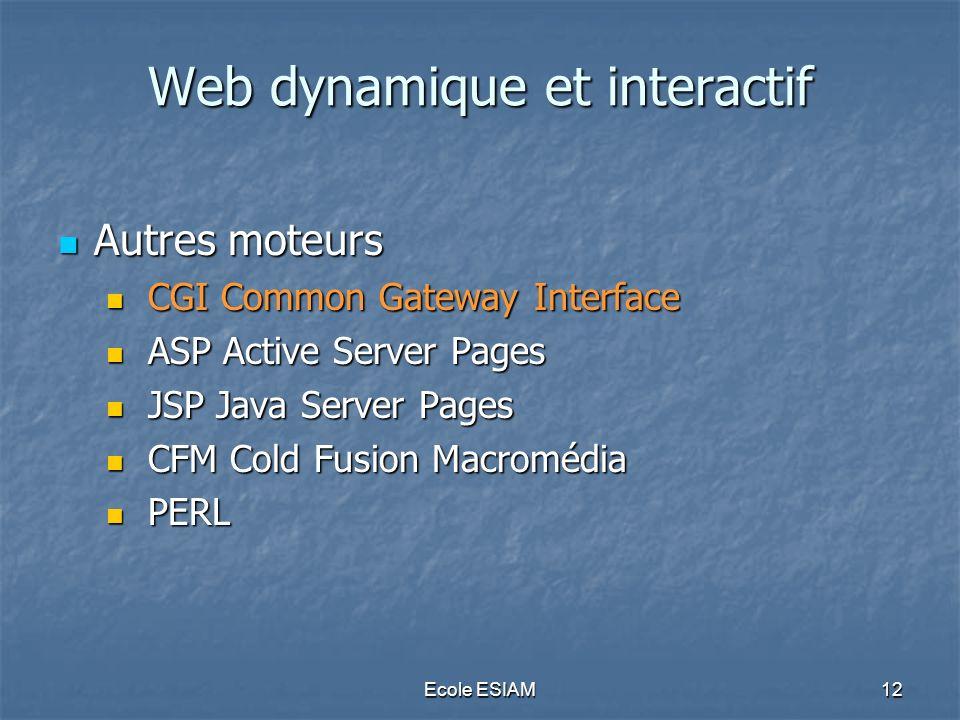 Web dynamique et interactif