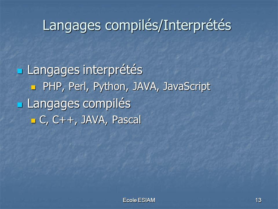 Langages compilés/Interprétés