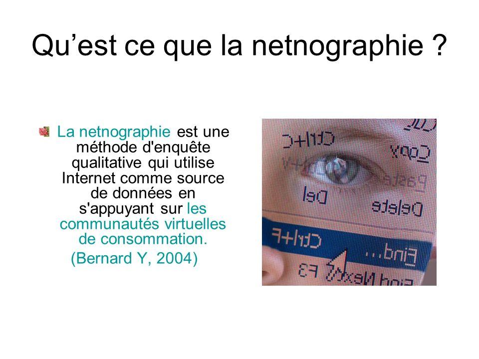 Qu'est ce que la netnographie