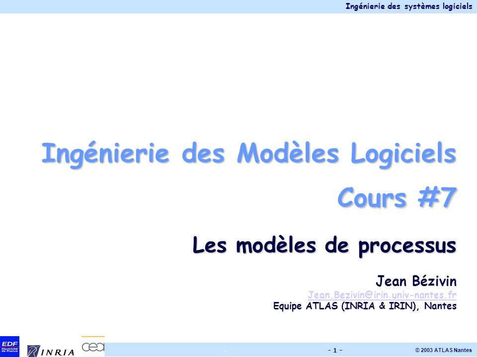 Ingénierie des Modèles Logiciels Cours #7