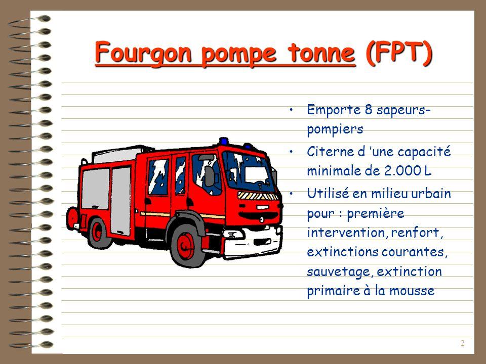 Fourgon pompe tonne (FPT)