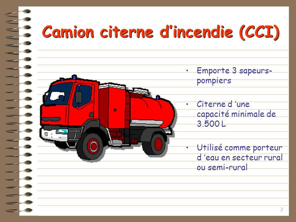Camion citerne d'incendie (CCI)