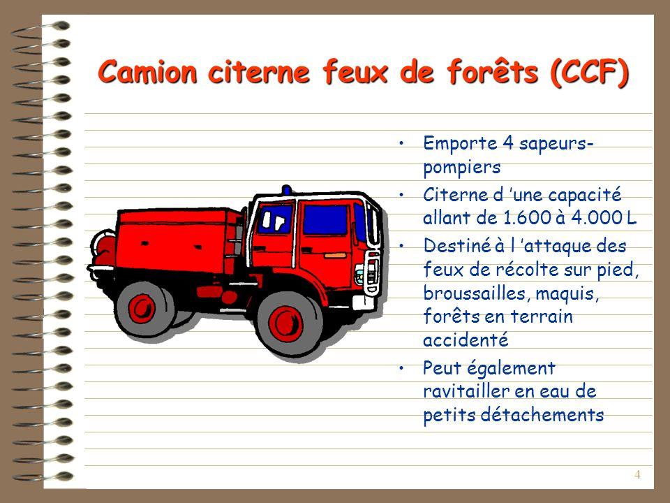 Camion citerne feux de forêts (CCF)