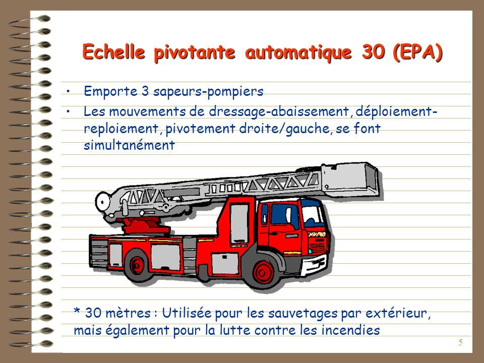 Echelle pivotante automatique 30 (EPA)