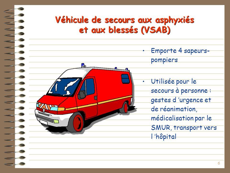 Véhicule de secours aux asphyxiés et aux blessés (VSAB)