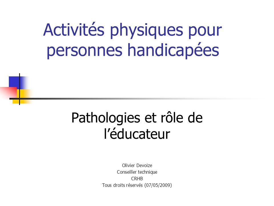 Activités physiques pour personnes handicapées
