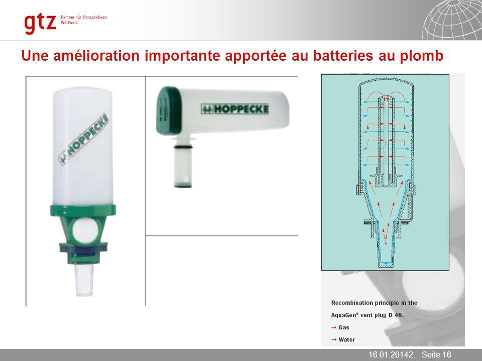 Une amélioration importante apportée au batteries au plomb