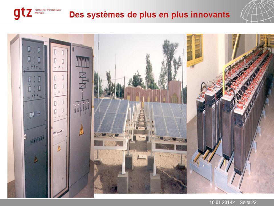 Des systèmes de plus en plus innovants