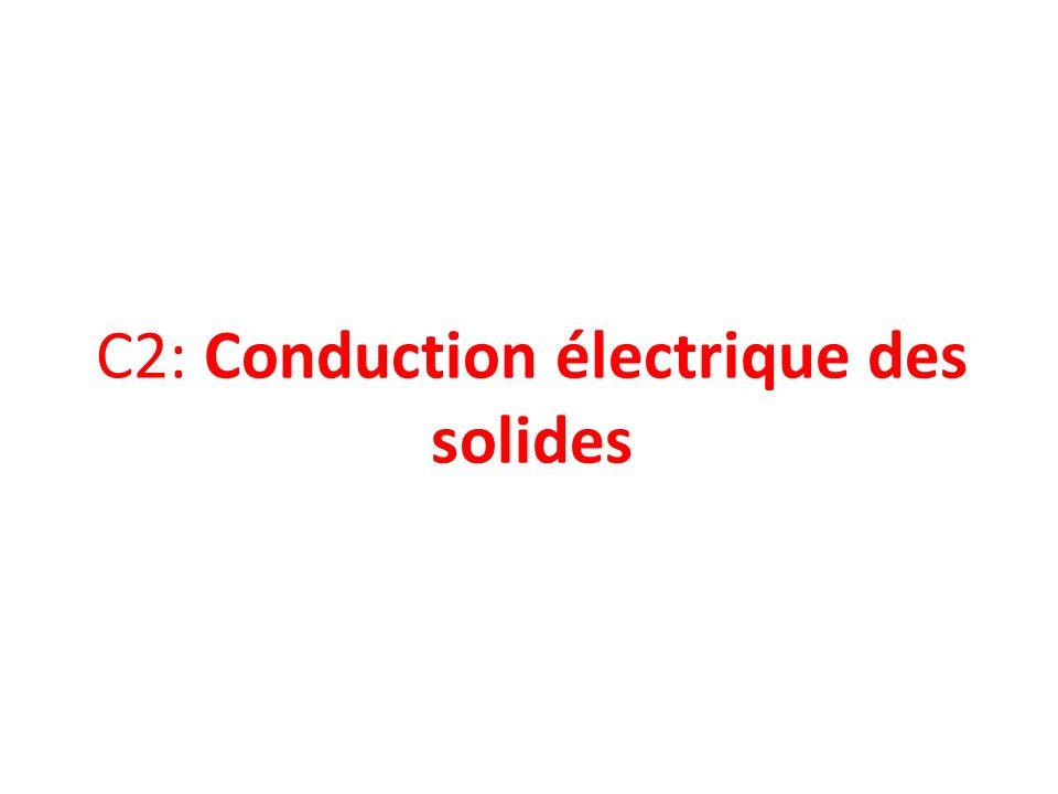C2: Conduction électrique des solides