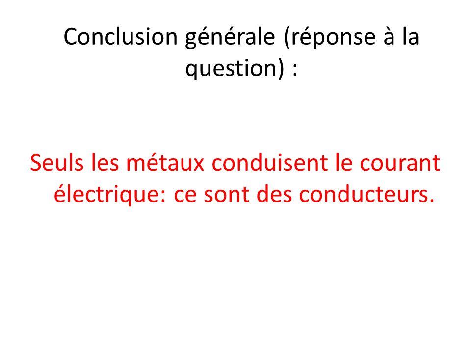 Conclusion générale (réponse à la question) :
