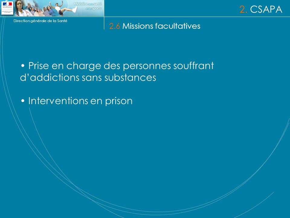 Prise en charge des personnes souffrant d'addictions sans substances