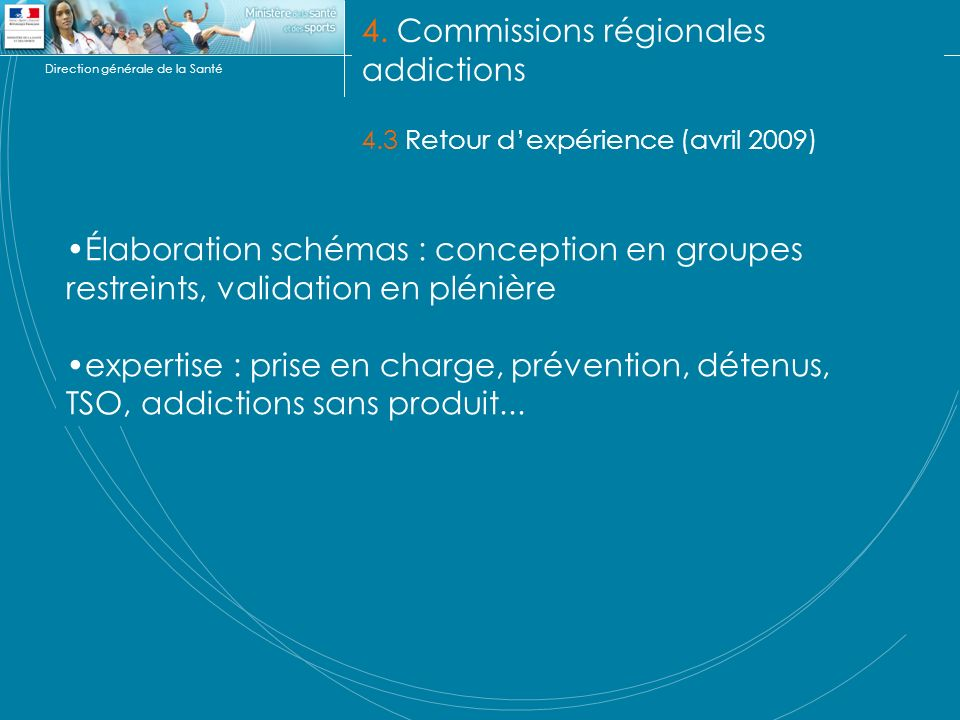 4. Commissions régionales addictions