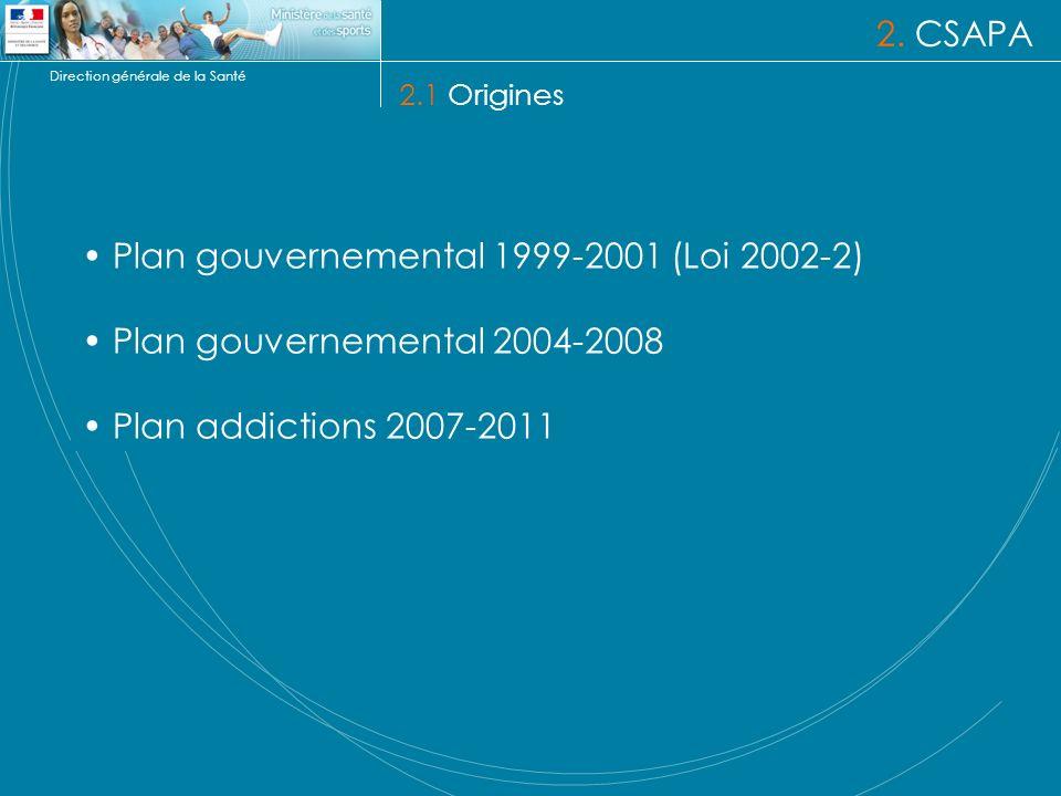 Plan gouvernemental 1999-2001 (Loi 2002-2)