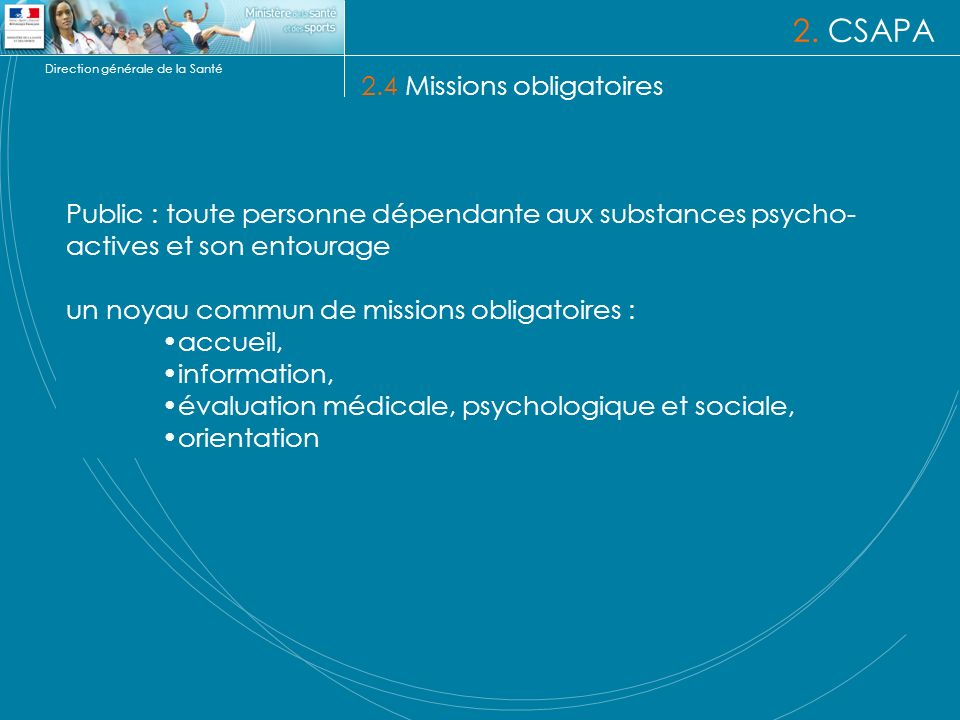 2. CSAPA 2.4 Missions obligatoires