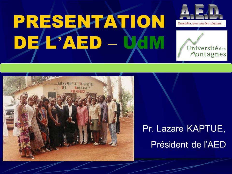 PRESENTATION DE L'AED – UdM