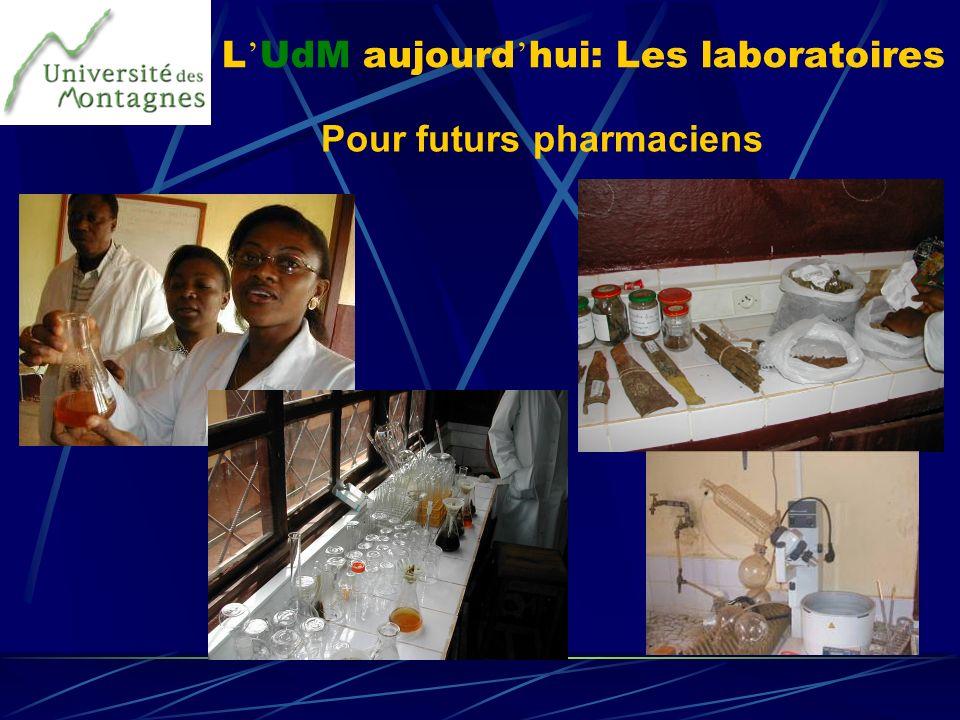 L'UdM aujourd'hui: Les laboratoires