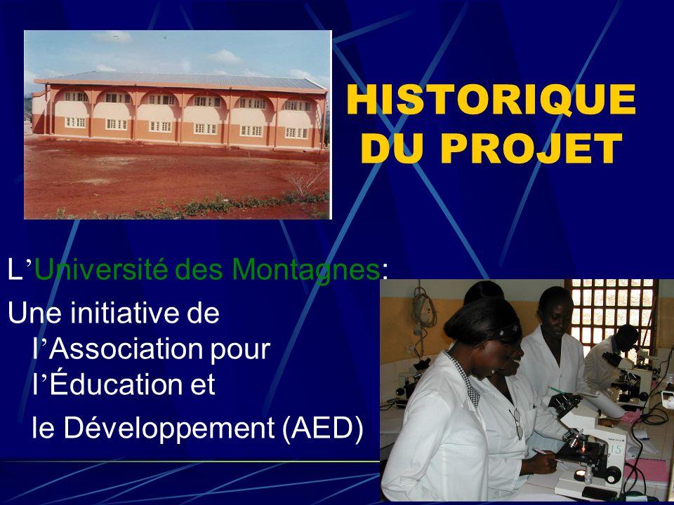 HISTORIQUE DU PROJET L'Université des Montagnes: