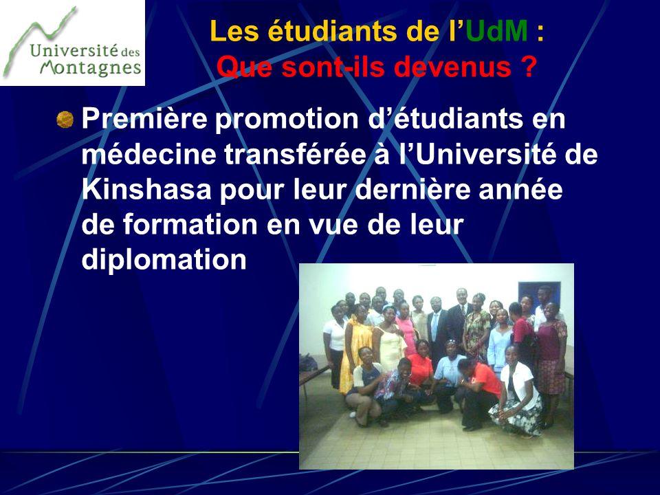 Les étudiants de l'UdM : Que sont-ils devenus