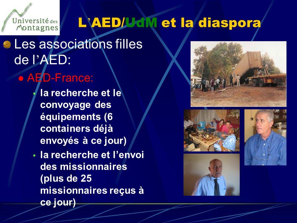 L'AED/UdM et la diaspora