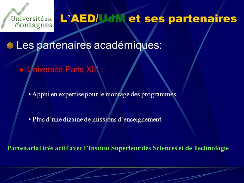 L'AED/UdM et ses partenaires