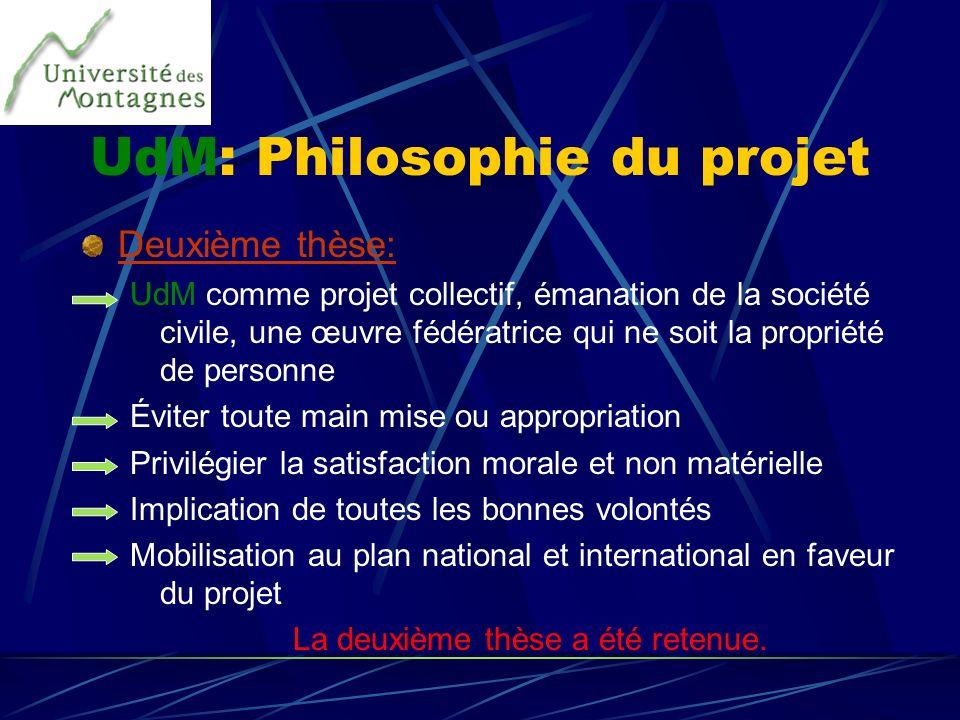 UdM: Philosophie du projet
