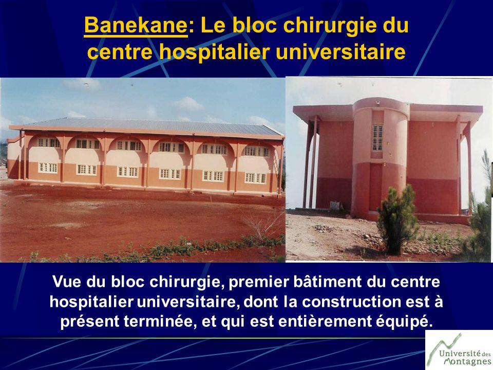 Banekane: Le bloc chirurgie du centre hospitalier universitaire