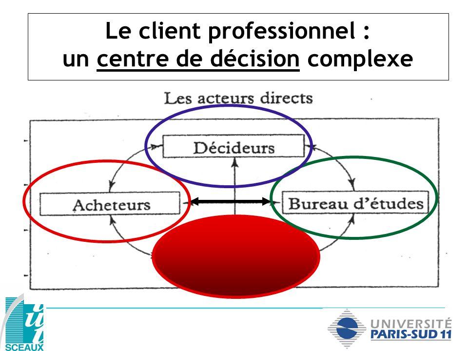Le client professionnel : un centre de décision complexe
