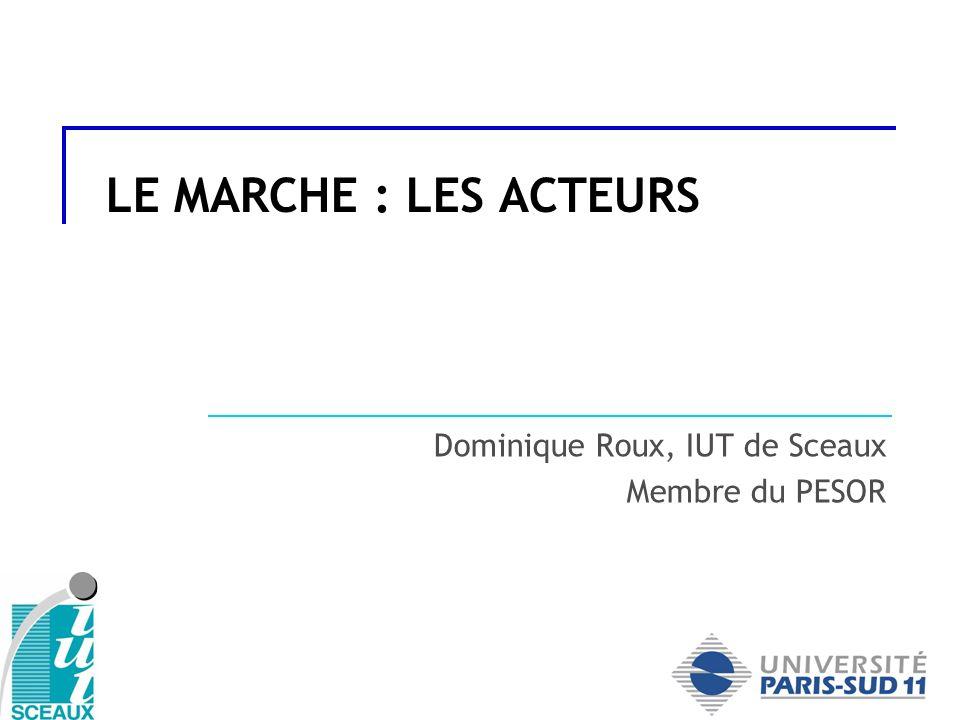 Dominique Roux, IUT de Sceaux Membre du PESOR