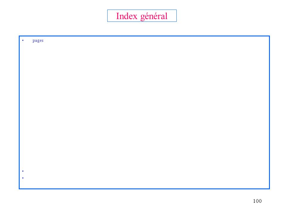 Index général pages
