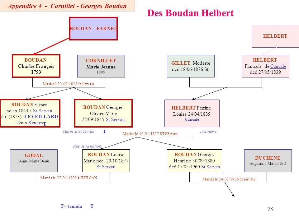 Appendice 4 - Cornillet - Georges Boudan