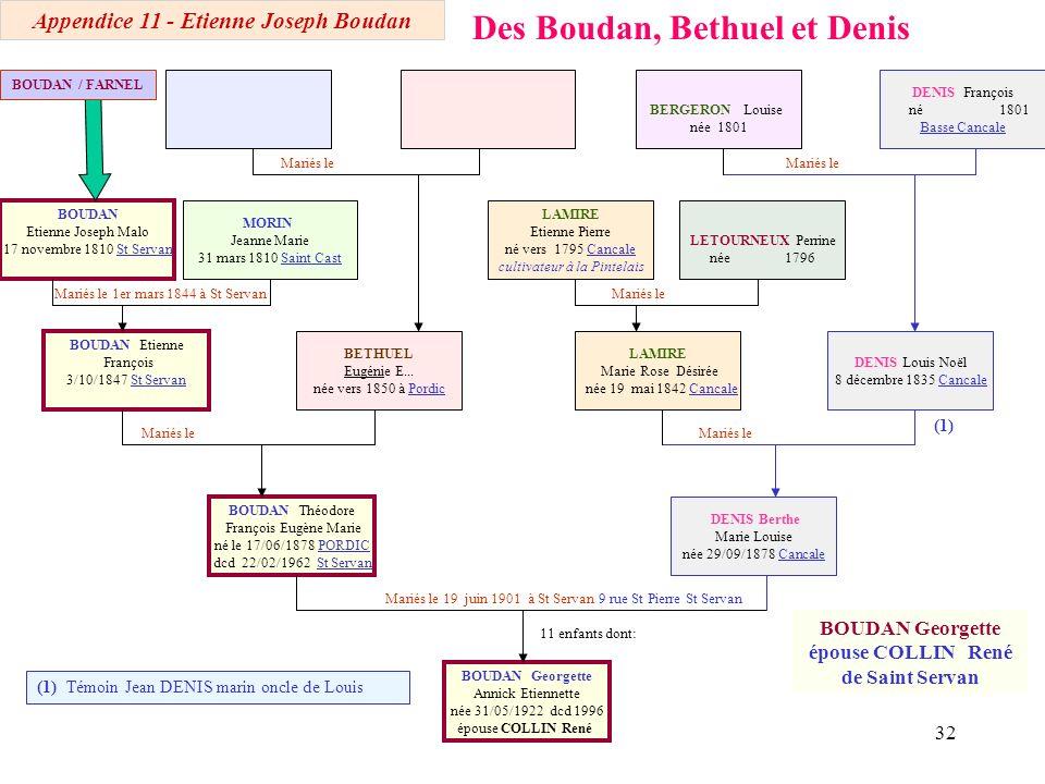 Des Boudan, Bethuel et Denis