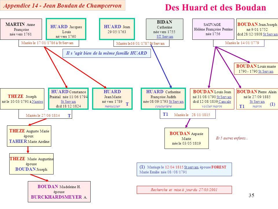 Des Huard et des Boudan Appendice 14 - Jean Boudan de Champcervon