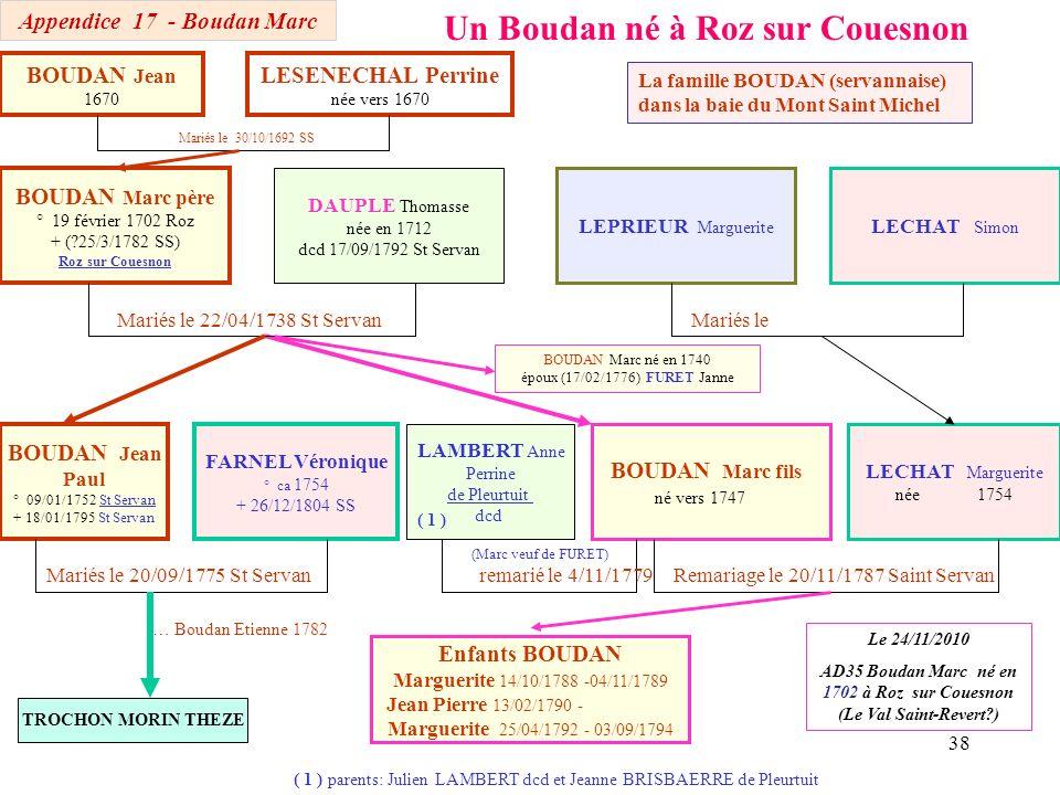Un Boudan né à Roz sur Couesnon