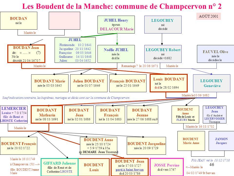 Les Boudent de la Manche: commune de Champcervon n° 2