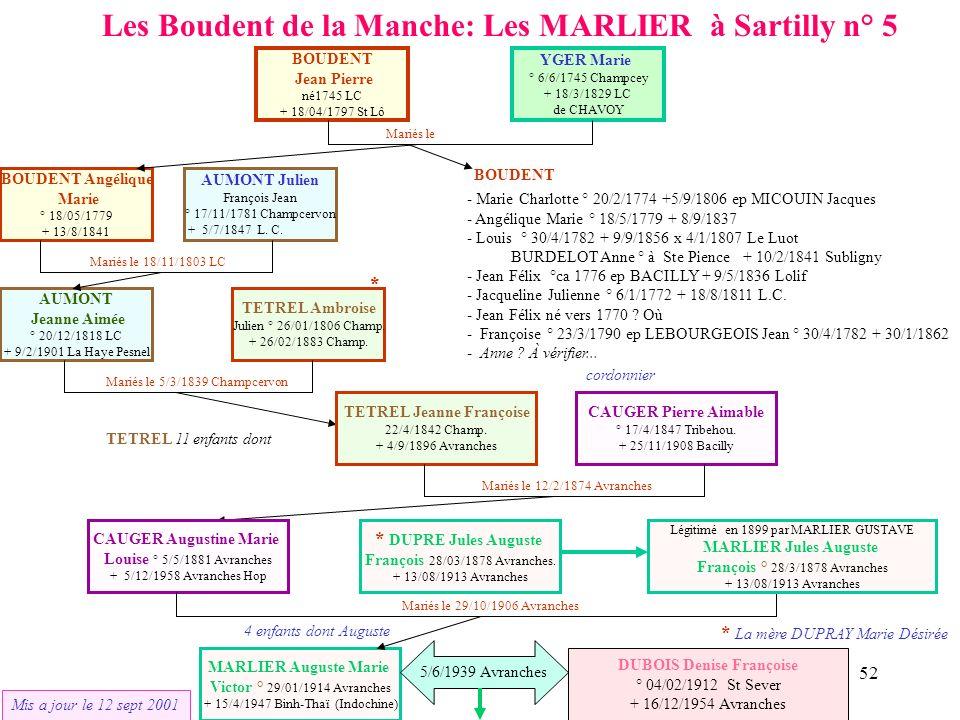 Les Boudent de la Manche: Les MARLIER à Sartilly n° 5