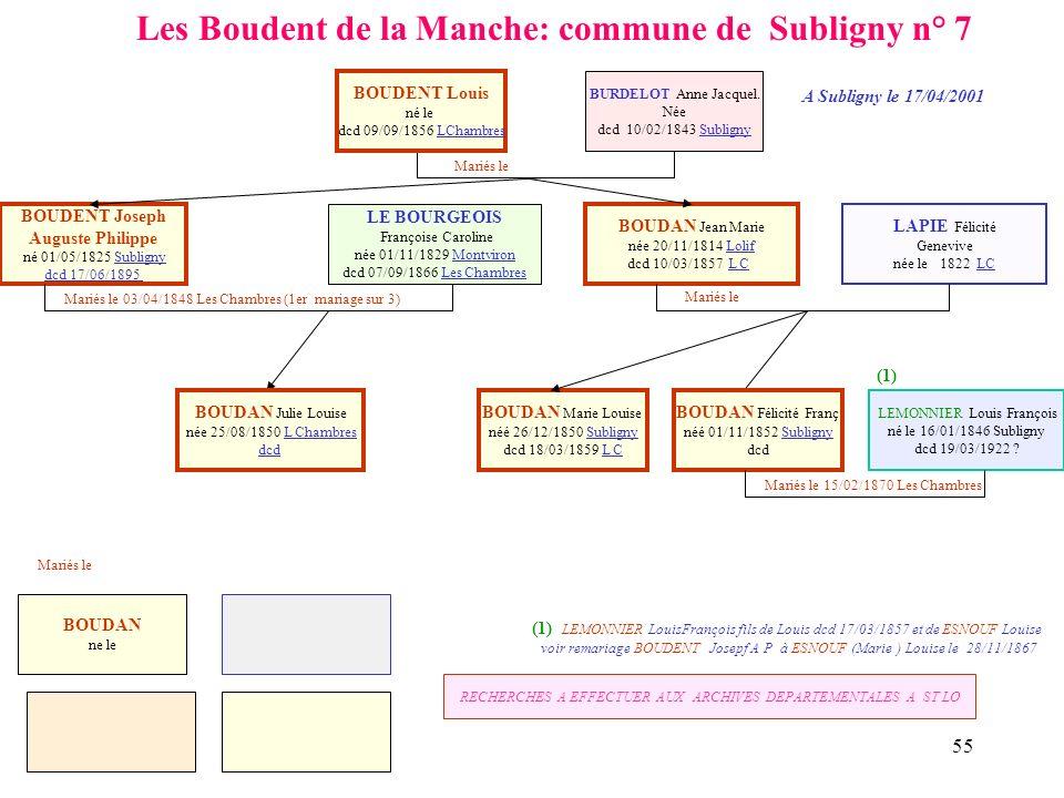 Les Boudent de la Manche: commune de Subligny n° 7